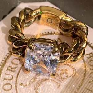 Juicy Couture Chainlink Solitaire Ring